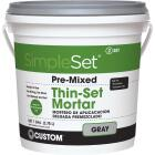 Custom Building Products SimpleSet Gallon Gray Pre-Mixed Thin-Set Mortar Image 1
