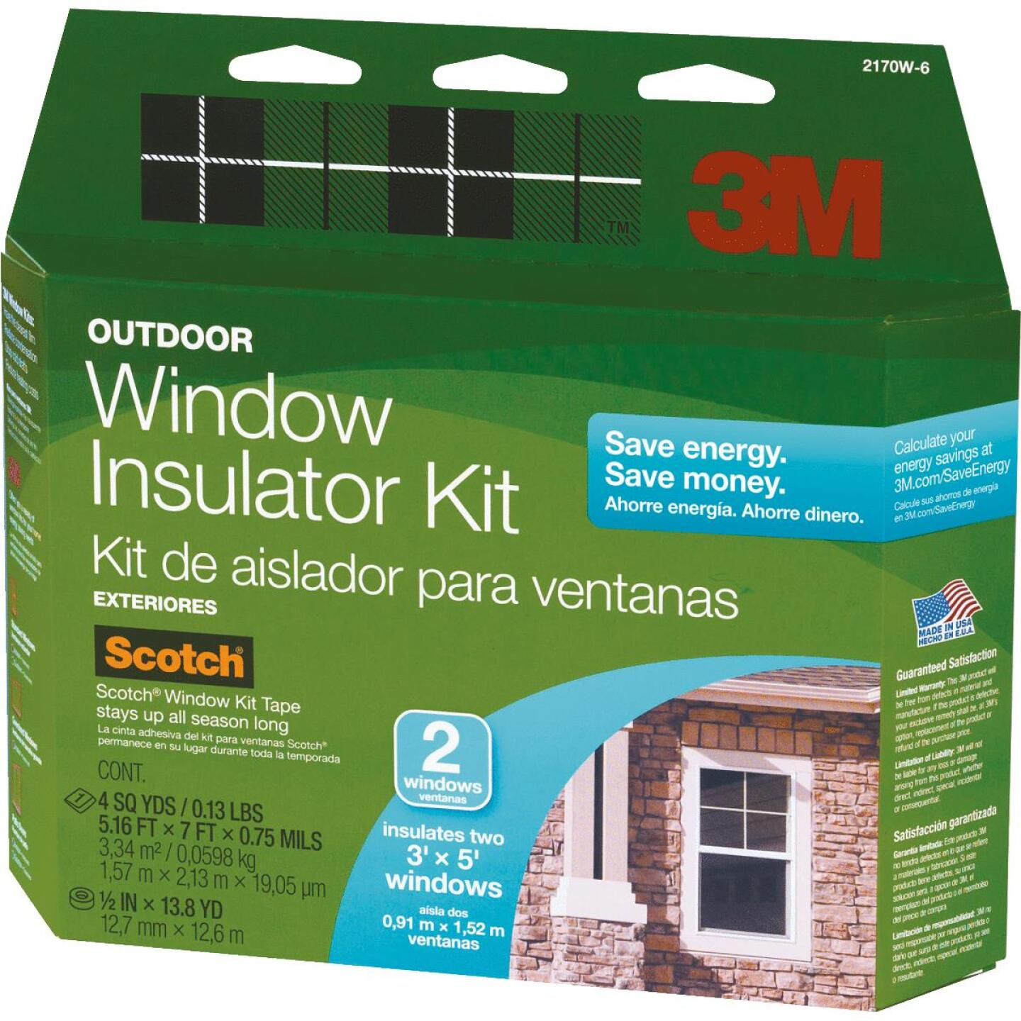 3M 62 In. x 84 In. Outdoor Window Insulation Kit, (2-Pack) Image 1