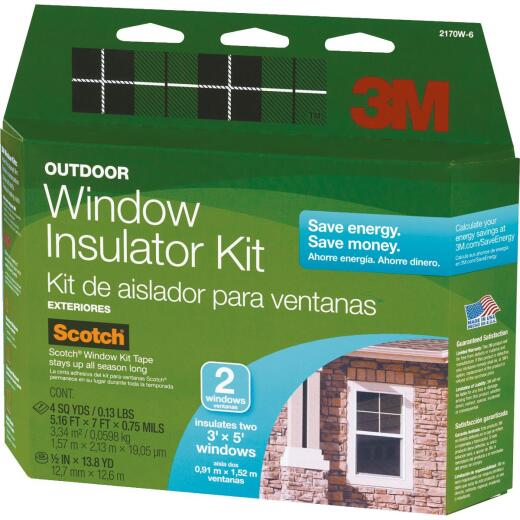 3M 62 In. x 84 In. Outdoor Window Insulation Kit, (2-Pack)