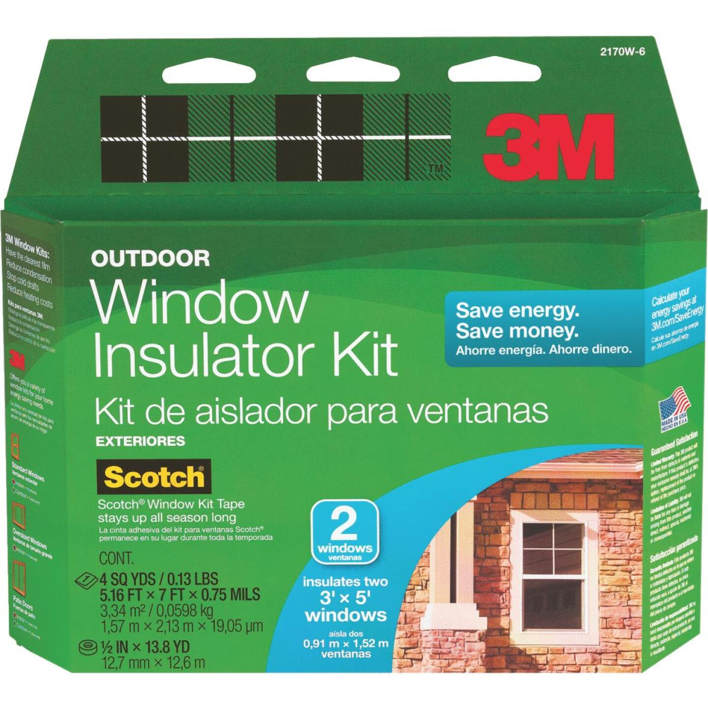 3M 62 In. x 84 In. Outdoor Window Insulation Kit, (2-Pack) Image 2