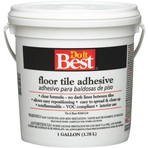 Do it Best Clear Thin Spread Floor Tile Adhesive (Gallon)