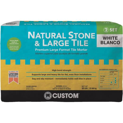 Custom Building Products 50 Lb. White Natural Stone & Large Tile Mortar
