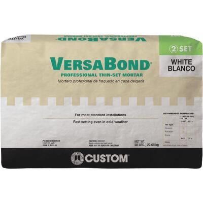 Custom Building Products VersaBond 50 Lb. White Fortified Thin-Set Mortar