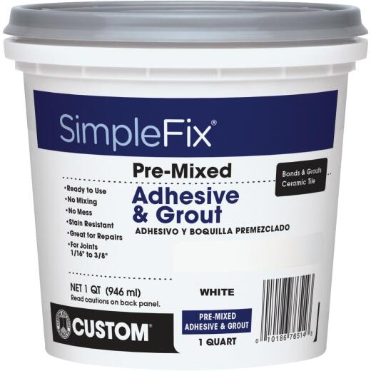 Custom Building Products Simplefix Quart Bright White Sanded Tile Grout