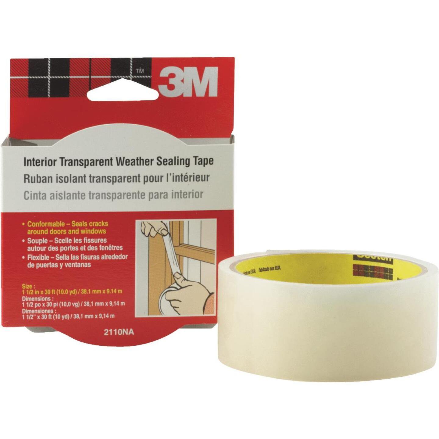 3M 1-1/2 In. x 30 Ft. Clear Weatherseal Tape Image 3