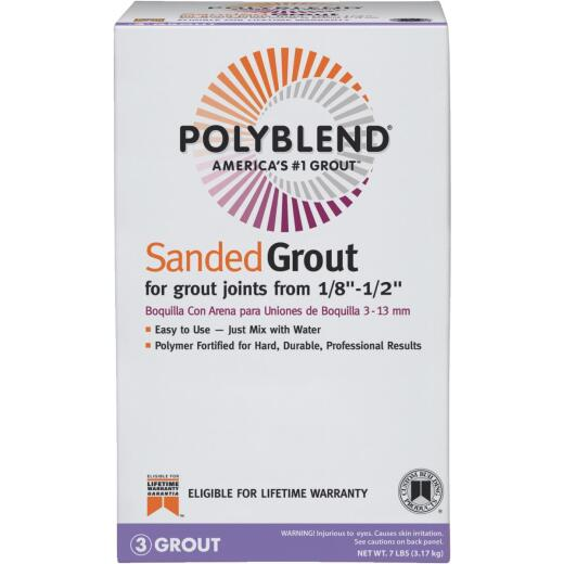Custom Building Products Polyblend  7 Lb. Nutmeg Brown Sanded Tile Grout