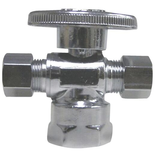 ProLine 1/2 In. FIP x 3/8 In. C x 3/8 In. C Brass Cross Valve