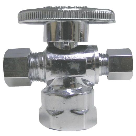ProLine 1/2 In. FIP x 3/8 In. C x 1/4 In. C Brass Cross Valve