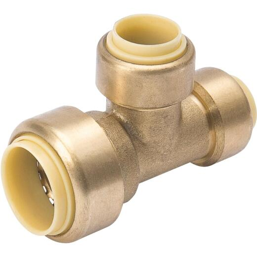 ProLine 3/4 In. x 1/2 In. x 1/2 In. Push Fit Brass Tee