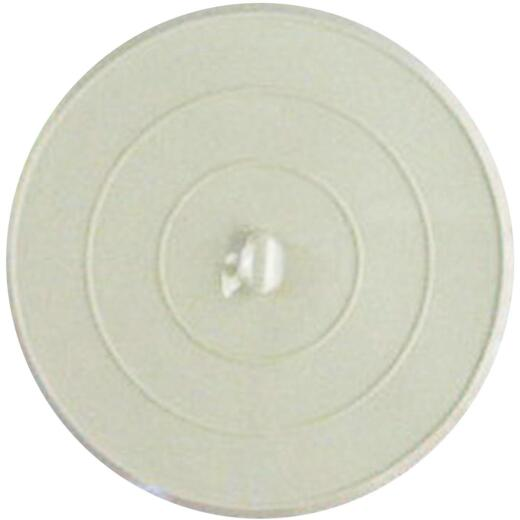 Lasco Flat Suction 4-3/4 In. White Sink Rubber Drain Stopper