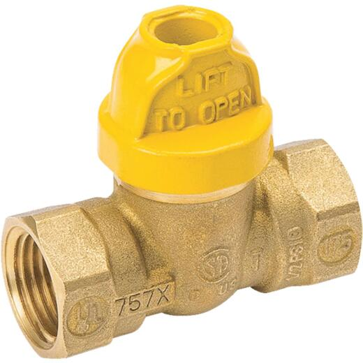 ProLine 1/2 In. FPT x FPT Chrome-Plated Brass Ball Ball Ball Valve