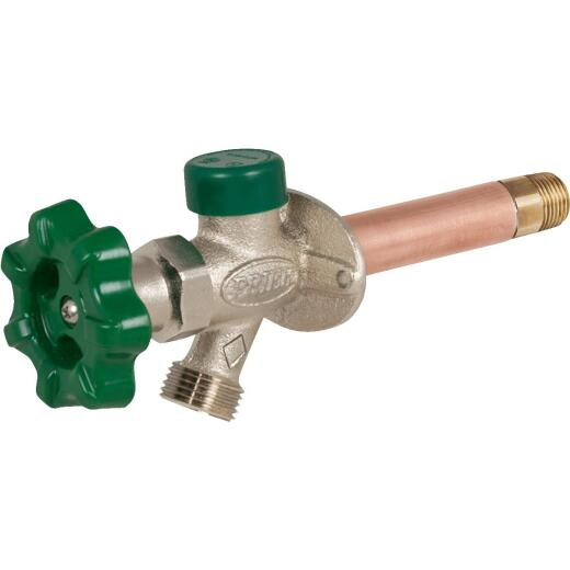 Prier 1/2 In. SWT X 1/2 In. IPS X 8 In. Quarter-Turn Frost Free Wall Hydrant