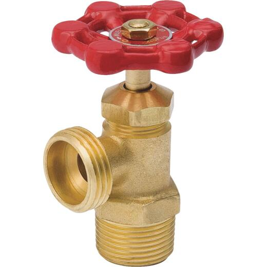 ProLine 3/4 In. MIP x 3/4 In. Hose Thread Brass Cast Iron Boiler Drain