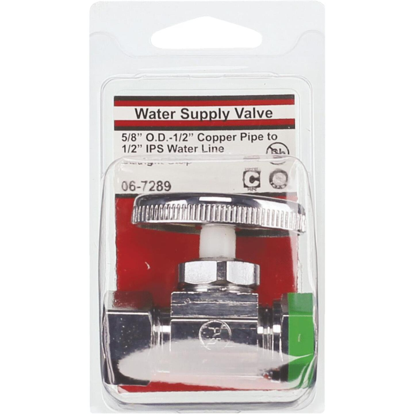 Lasco 5/8 In. Comp Inlet x 1/2 In. IP S-J Outlet Brass Straight Stop Valve Image 2