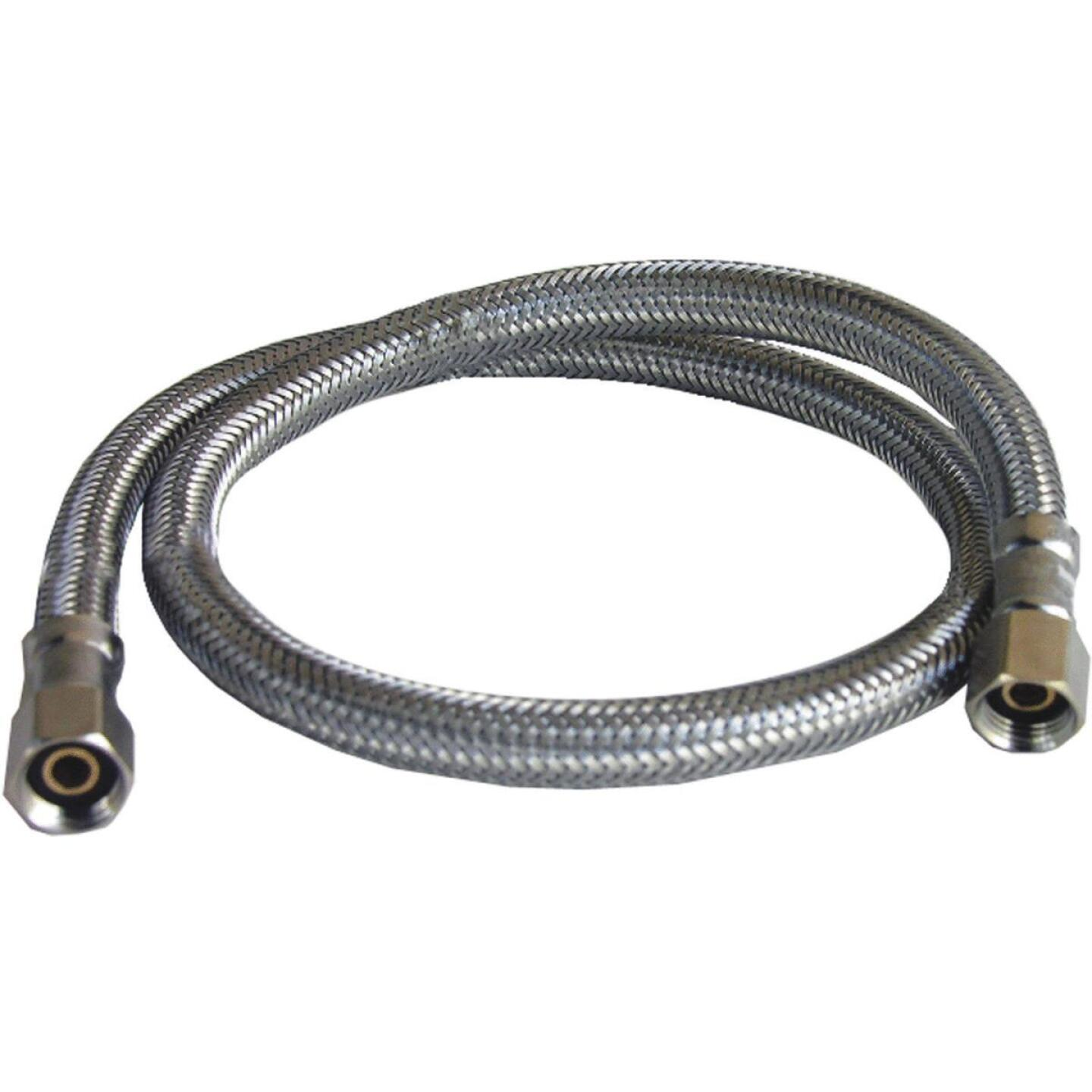 Lasco 1/4 In. x 1/4 In. x 24 In. Length Braided Supply Ice Maker Connector Hose Image 1