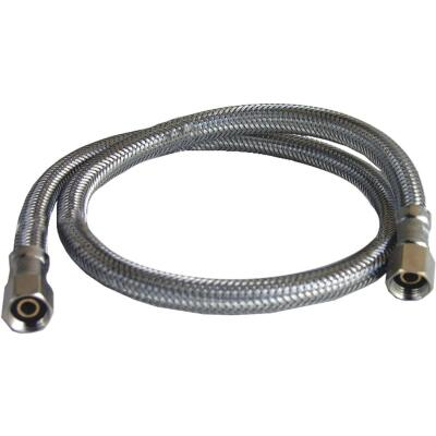 Lasco 1/4 In. x 1/4 In. x 24 In. Length Braided Supply Ice Maker Connector Hose