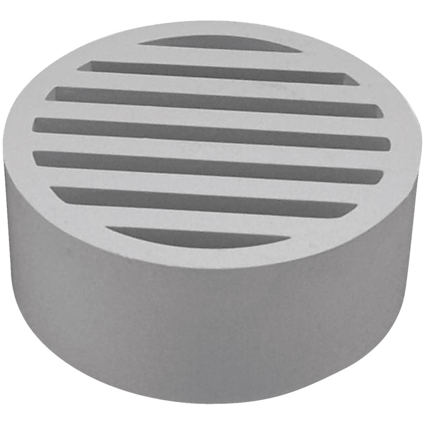 Genova Hub-Fit 3 In. PVC, Vinyl Floor Strainer Image 1