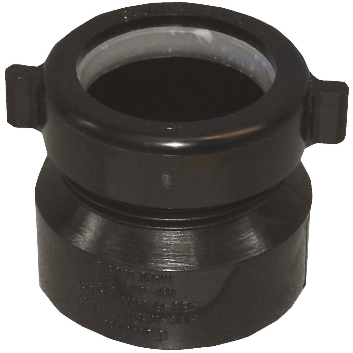 Charlotte Pipe 1-1/2 In. x 1-1/2 In. Black ABS Waste Adapter Image 1