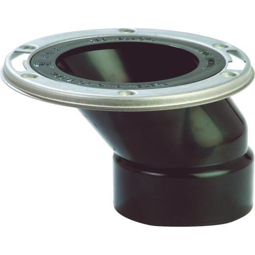 Sioux Chief 4 In. x 3 In. ABS Offset Flange Toilet Flange with Stainless Steel Ring