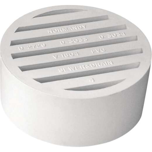 IPEX Hub-Fit 4 In. PVC Floor Strainer
