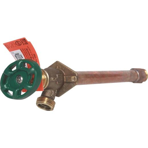 "Arrowhead Brass 1/2 In. FIP X 3/4"" MIP X 3/4"" HT X 10 In. Quarter-Turn Anti-Siphon Frost Free Wall Hydrant"