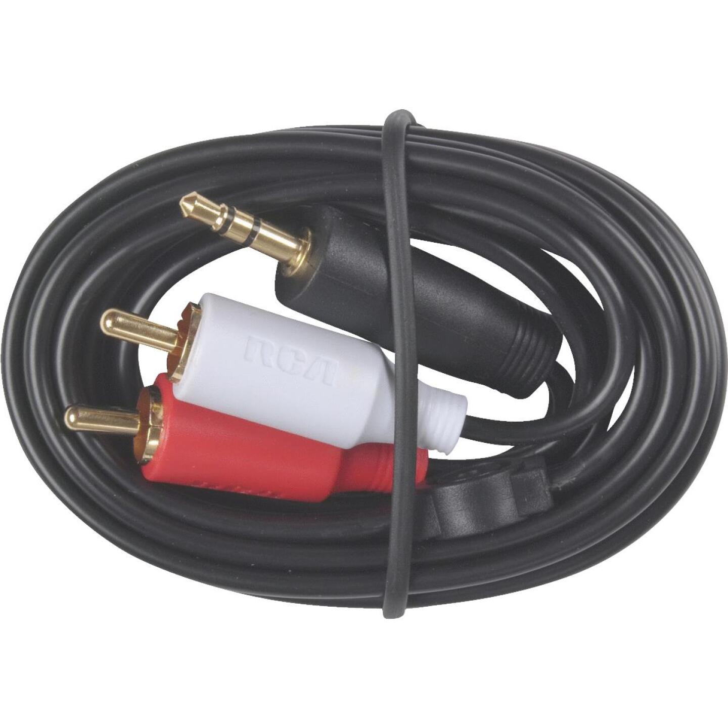 RCA 3 Ft. Single 3.5 mm Male RCA Y-Adapter Image 1