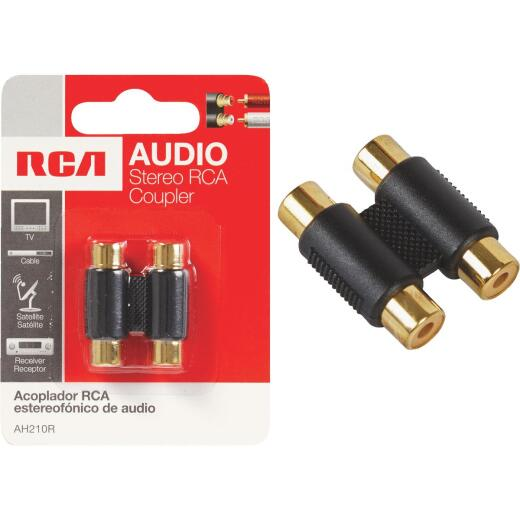 RCA Gold-Plated Corrosion Resistant In-Line Connector
