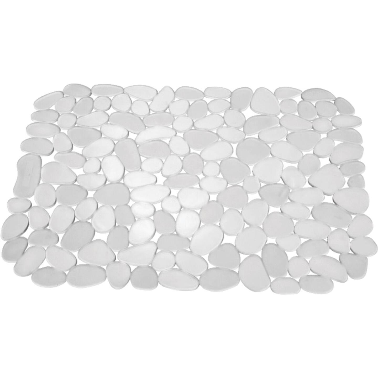 InterDesign Pebblz 10.5 In. x 12.25 In. Clear Sink Mat Image 1