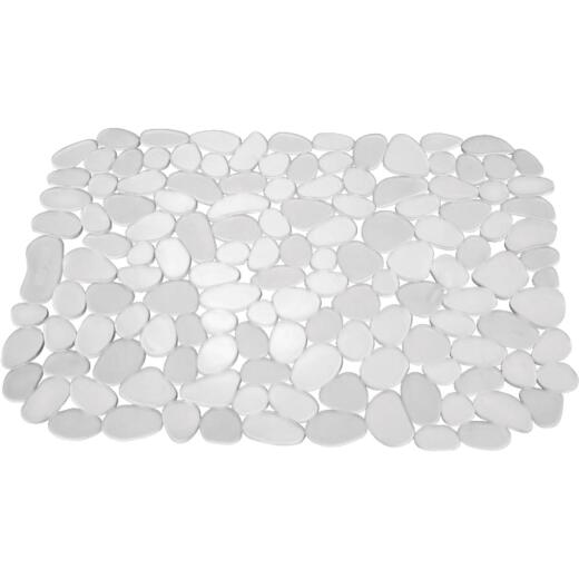 InterDesign Pebblz 10.5 In. x 12.25 In. Clear Sink Mat