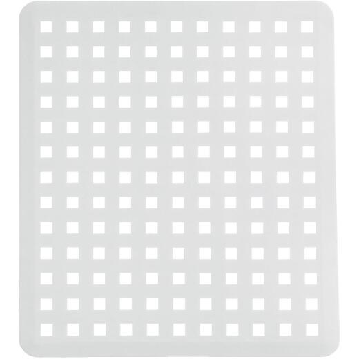 iDesign Euro 11 In. x 12.5 In. White Plastic Sink Mat