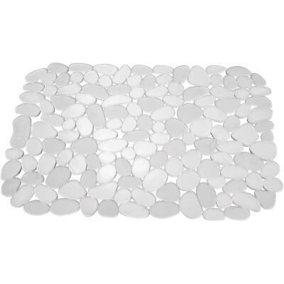 InterDesign Pebblz 12 In. x 15.5 In. Clear Sink Mat