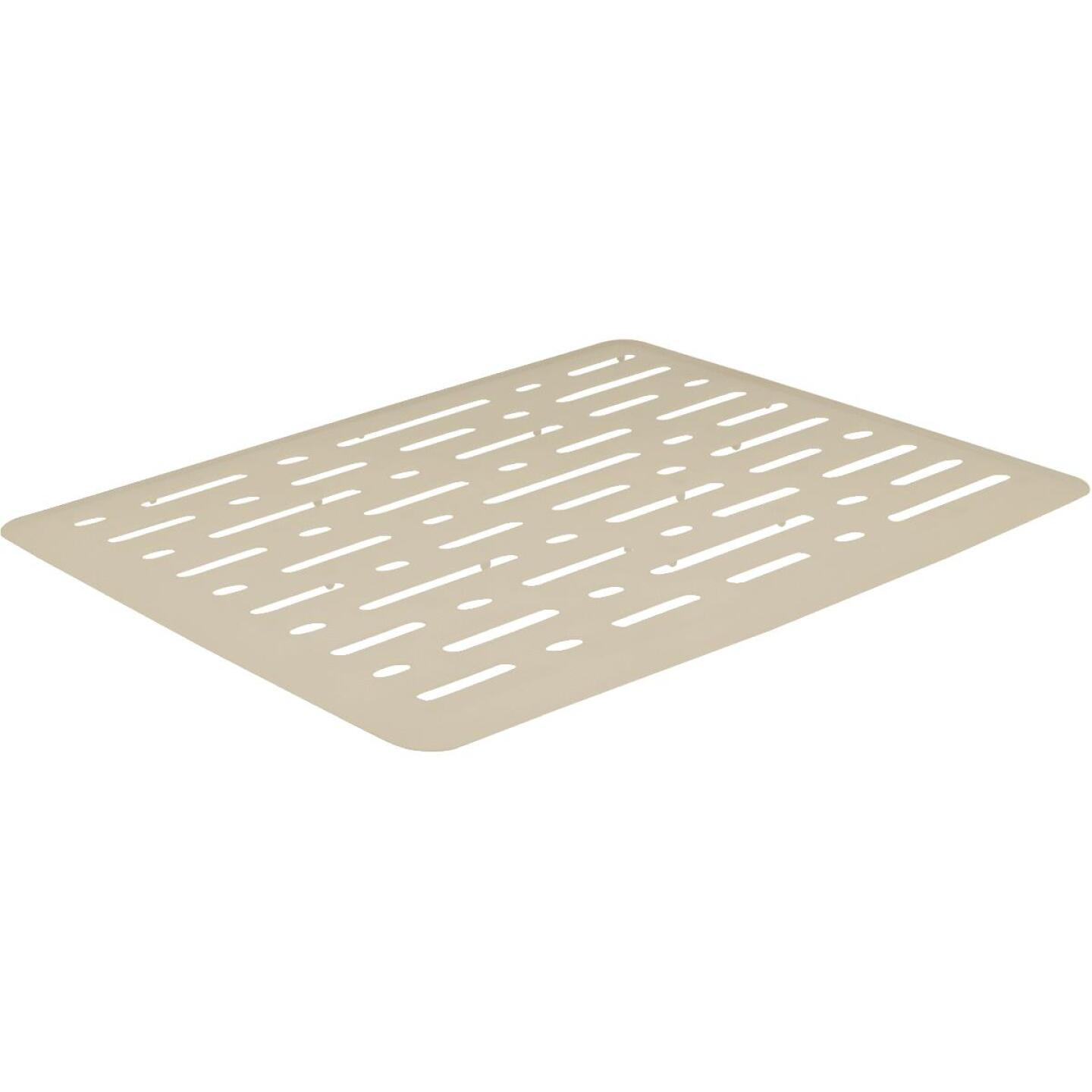 Rubbermaid 10.7 In. x 12.7 In. Bisque Sink Mat Image 1