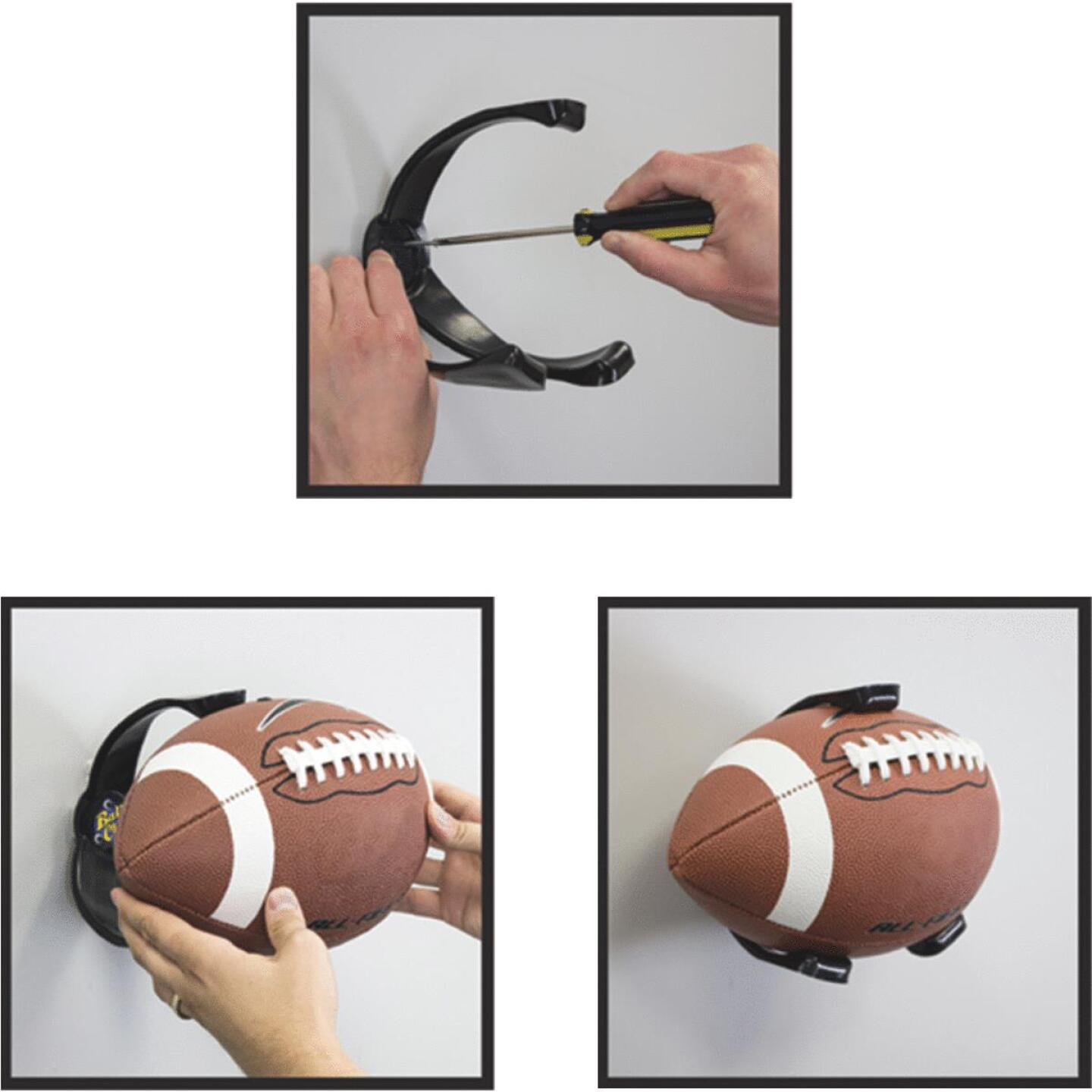 Ball Claw 5-1/4 In. W x 6-3/4 In. H. x 6-3/8 In. D. Football Storage Rack Image 1