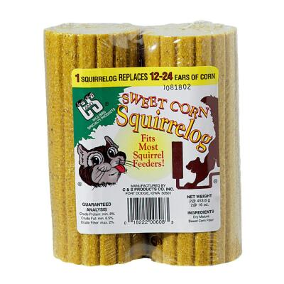 C&S 16 Oz. Replacement Log Squirrel Food (2-Pack)