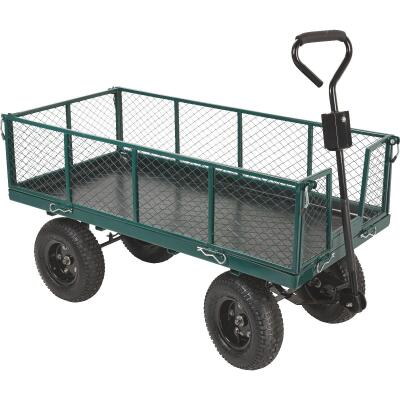 Best Garden 1000 Lb. Steel Garden Cart with Collapsible Sides