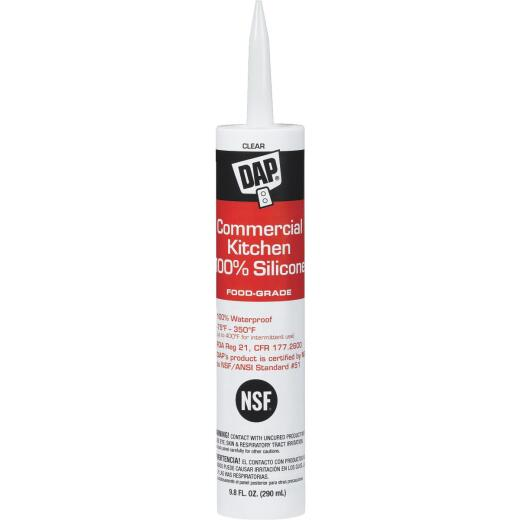 DAP 9.8 Oz. Commercial Kitchen Food-Grade Silicone Sealant, Clear