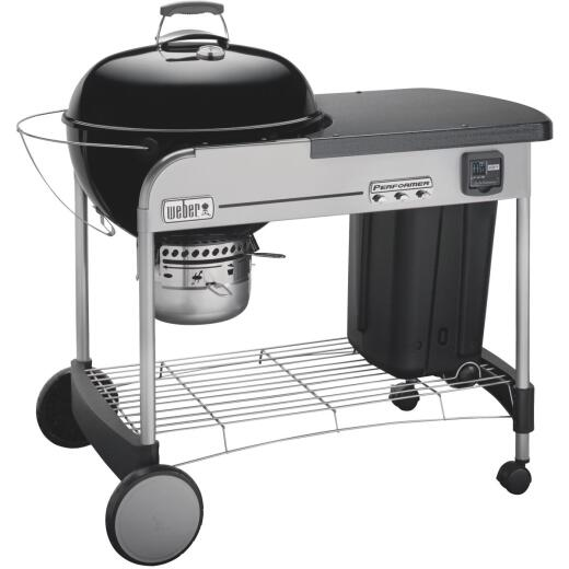 Weber Performer Premium 22 In. Black Charcoal Grill