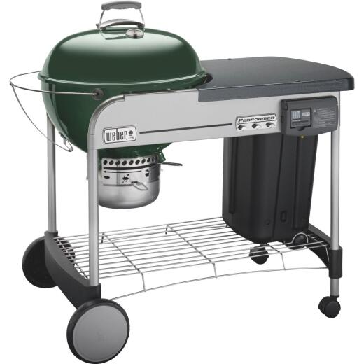 Weber Performer Deluxe 22 In. Green Charcoal Grill